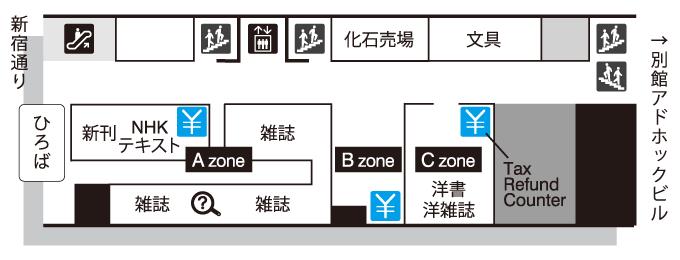 新宿本店フロアガイド 1F