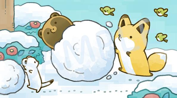 『タヌキとキツネ 冬のおはなし』購入特典